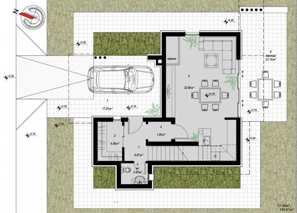 1 moderna kuća Jednostavna moderna kuća za odmor i beg iz gradskog sivila 113