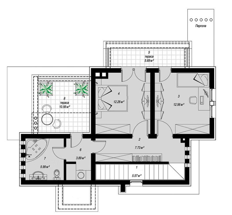 2 moderna kuća Jednostavna moderna kuća za odmor i beg iz gradskog sivila 212