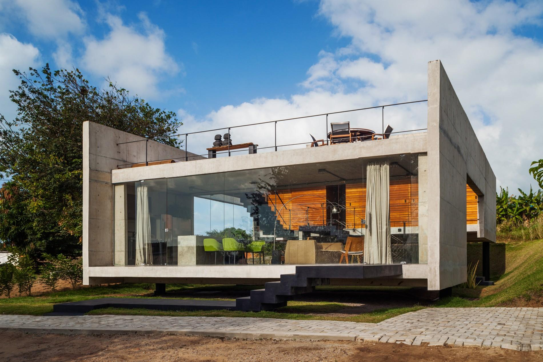 Moderna ku a u sao paulu foto projekti ku a for Concrete house plans