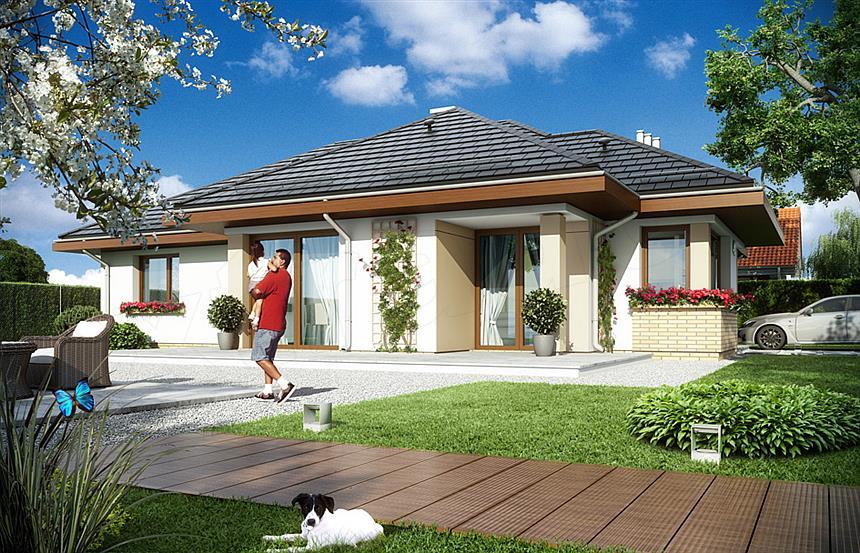 Atraktivna prizemna kuća sa garažom (DETALJAN PLAN) prizemna kuća sa garažom Atraktivna prizemna kuća sa garažom (DETALJAN PLAN) Trosobna porodi  na ku  a 5