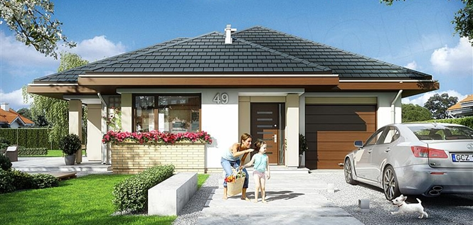 Atraktivna prizemna kuća sa garažom (DETALJAN PLAN)