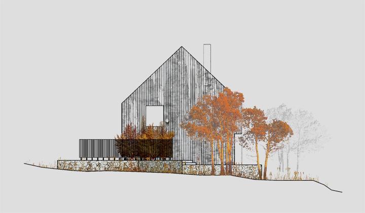 kuća na planinskom spustu 9