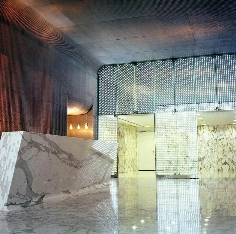 Unutrašnja fasada od kaljenog stakla